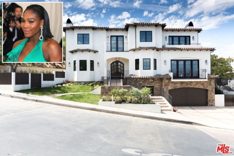 Exclusive--- Queen Of The Racket Serena Williams 5.1 Million Pounds Beverly Hills Home... See Photo Inside