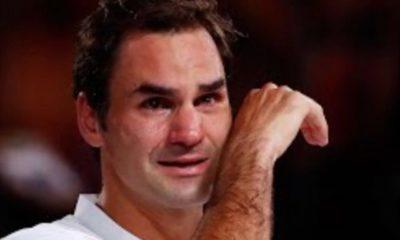 Roger Federer Crying During Emotional Winner Speech