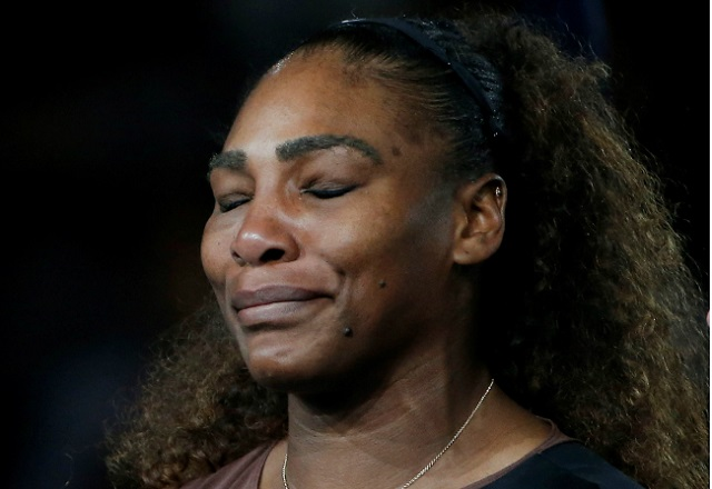 Serena Williams US Open crying