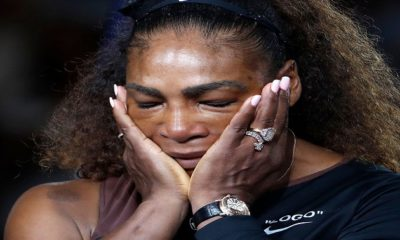 Serena Williams gives up crying heavily after lose