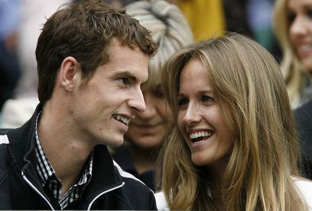 Andy Murray and wife Kim Sears happy