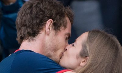 Andy Murray kissing his lovely wife Kim Sears romantically