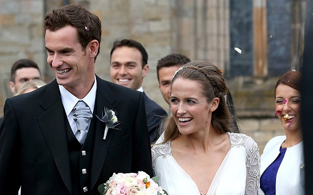 Andy Murray says his wife Kim Sears hates attention she gets at wedding