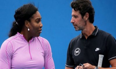 Serena Williams and Coach Patrick Mouratoglou