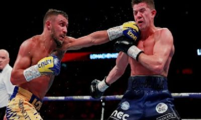 Vasyl Lomachenko Knocks down Luke Campbell