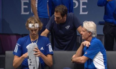 Roger Federer Dropping F-bombs While Coaching Alexander Zverev