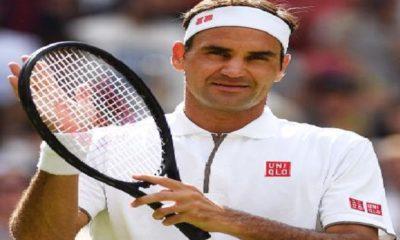 Roger Federer shares positive vibes from Laver Cup black court