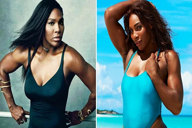 serena on swimming suit