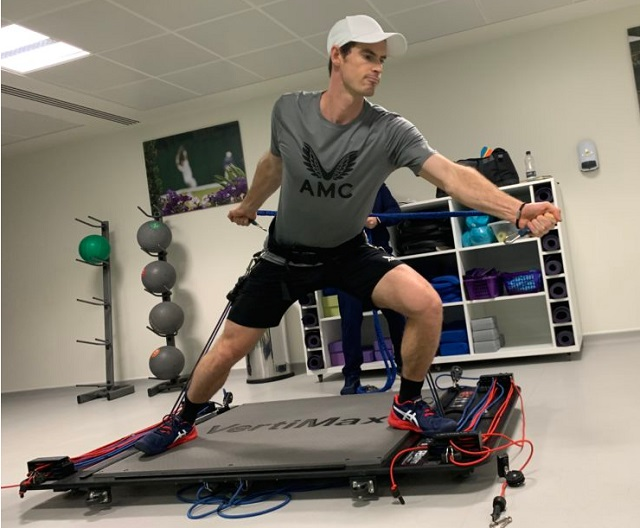Andy Murray fitness walkout