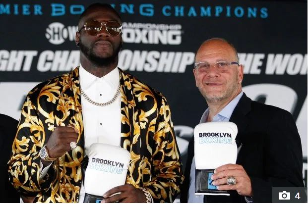 Deontay Wilder and coach