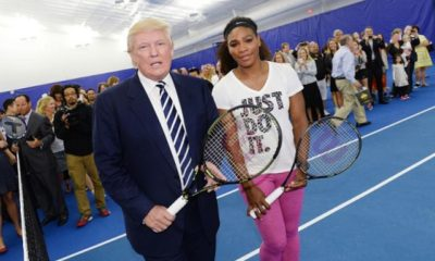 Donald Trump congratulates Serena William's