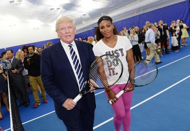 Donald Trump congratulates Serena William's