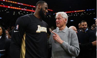 Lesbron james and Bill Clinton