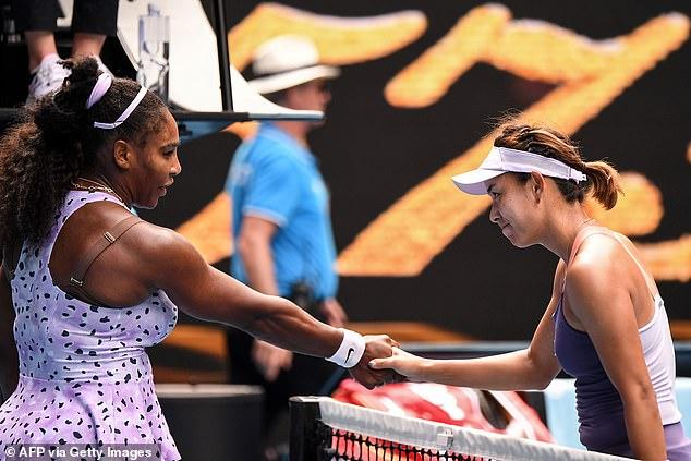 Qiang Wang and Serena williams