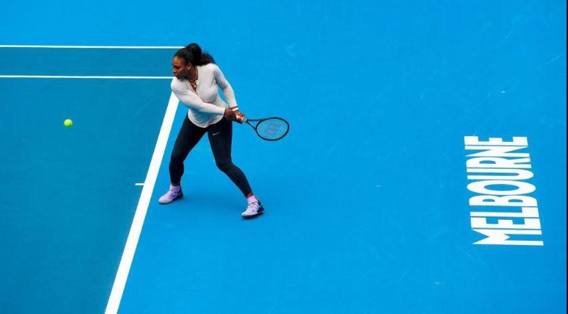 Serena Williams trained