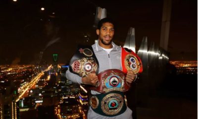 Anthony Joshua and belts