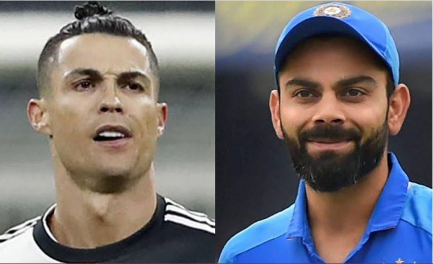 Cristiano Ronaldo and Virat Kholi