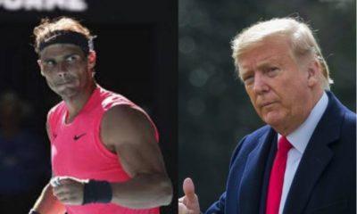 Donald Trump and Rafael Nadal