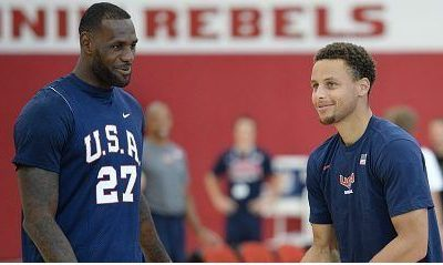 Lesbron James and steven Curry