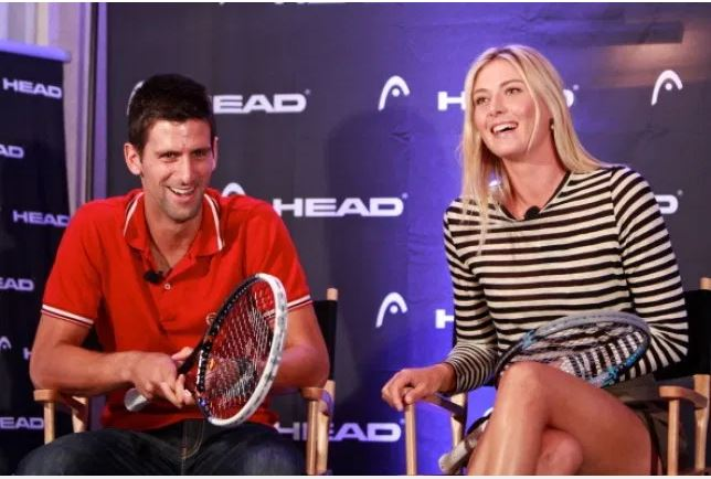 Novak Djokovic and Maria Sharapova