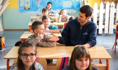 Novak Djokovic and kids