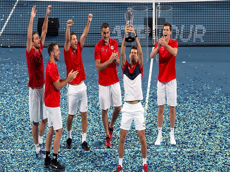 Novak Djokovic and team
