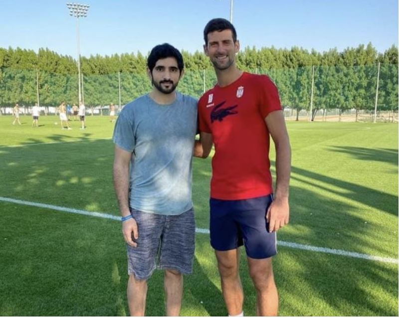 Novak Djokovic & friend