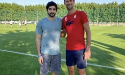 Novak Djokovic & friend