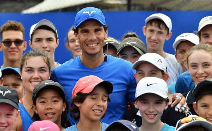 Rafael Nadal and kids