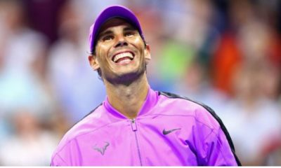 Rafael Nadal laughed