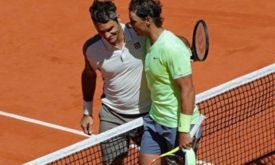 Roger Federer & Rafael Nadal shake