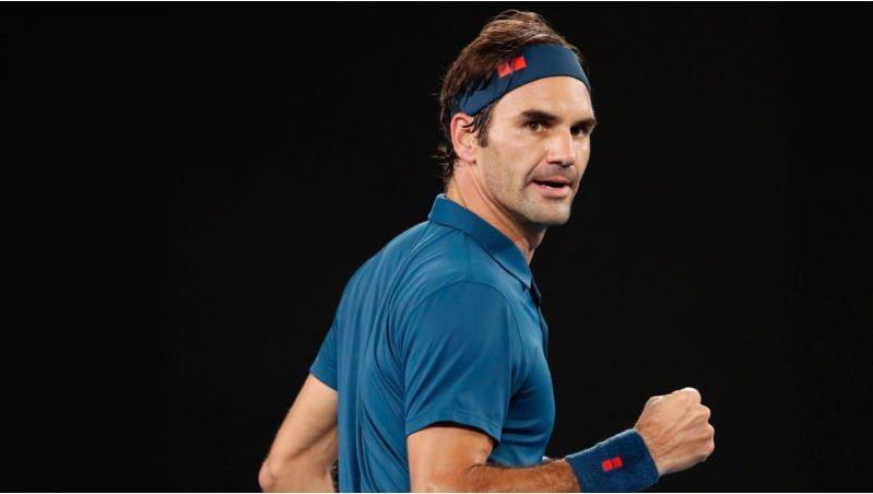 Roger Federer punch