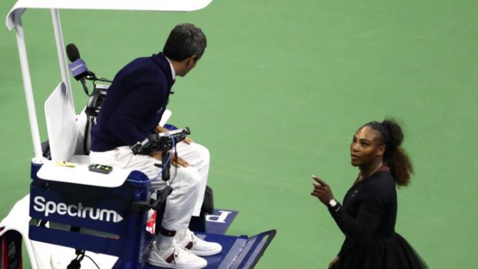 Serena Williams and umpire