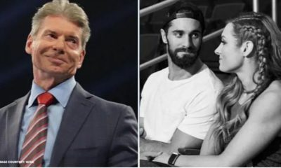 Vince Machmon and Becky Lynch