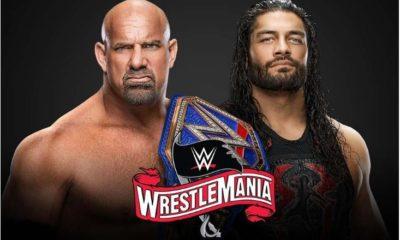 Goldberg and Roman Reigns