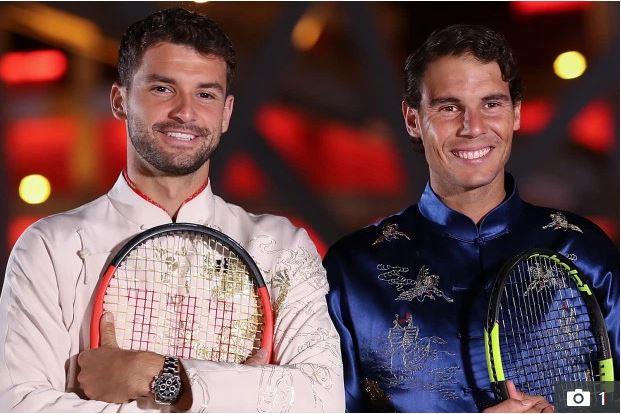 Grigor Dimitrov and Rafael Nadal