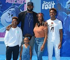 Lebron James with children