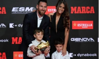 Lionel Messi and son
