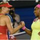 Maria Sharapova shake Serena Williams