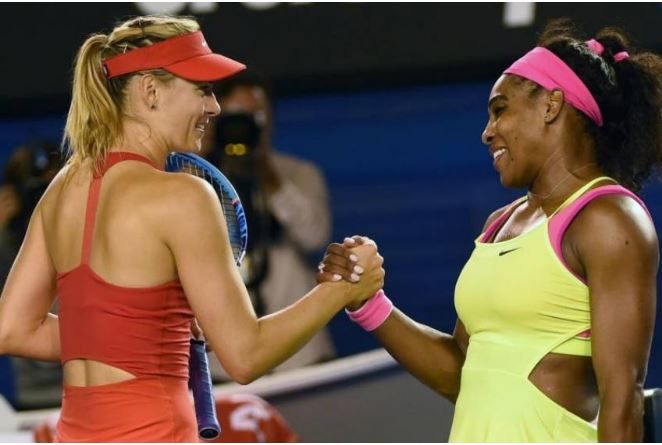 Maria Sharapova shake Serena Williams