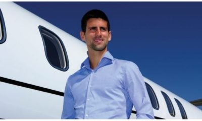 Novak Djokovic jet