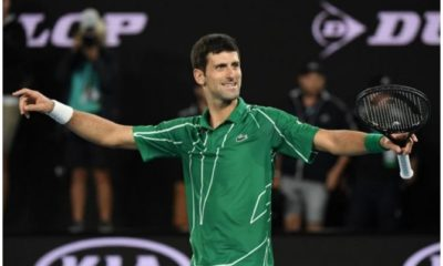 Novak Djokovic jubilate