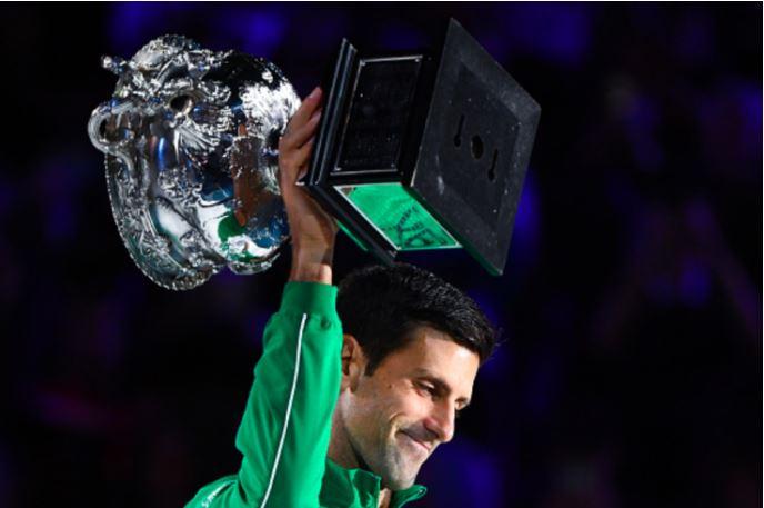 Novak Djokovic laugh
