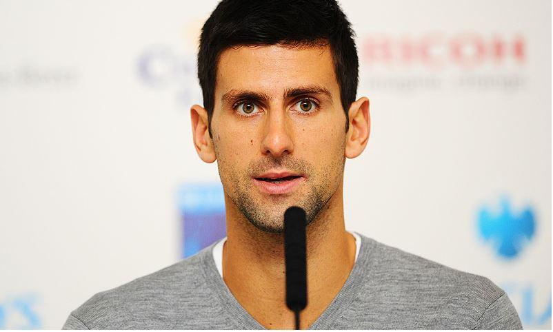 Novak Djokovic speaking