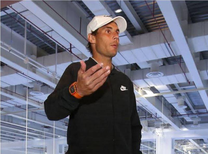 Rafael Nadal hand