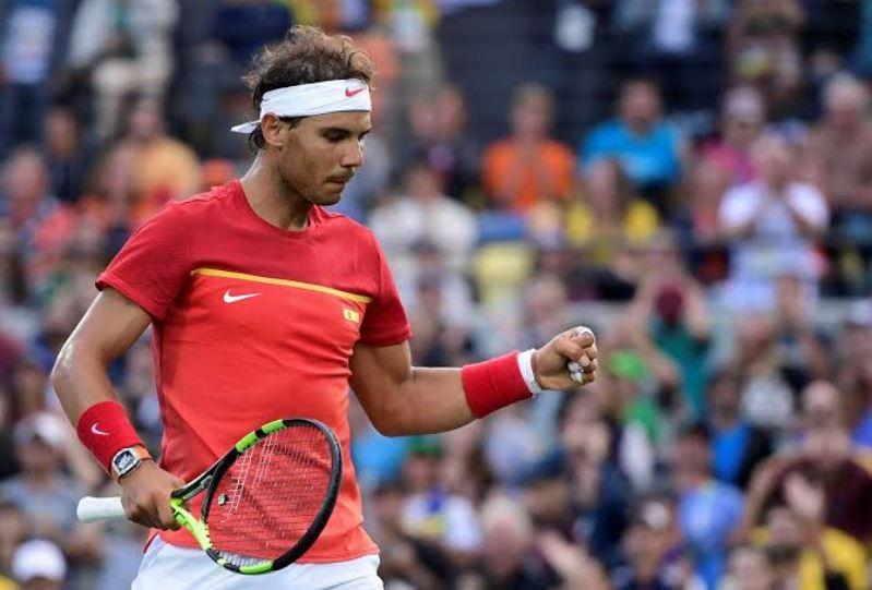 Rafael Nadal holds