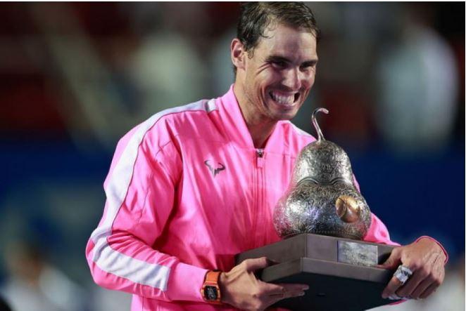 Rafael Nadal smiles