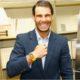 Rafael Nadal smiling