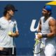 Rafael Nadal with coach