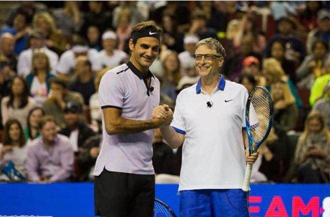 Roger Federer and Bill gates